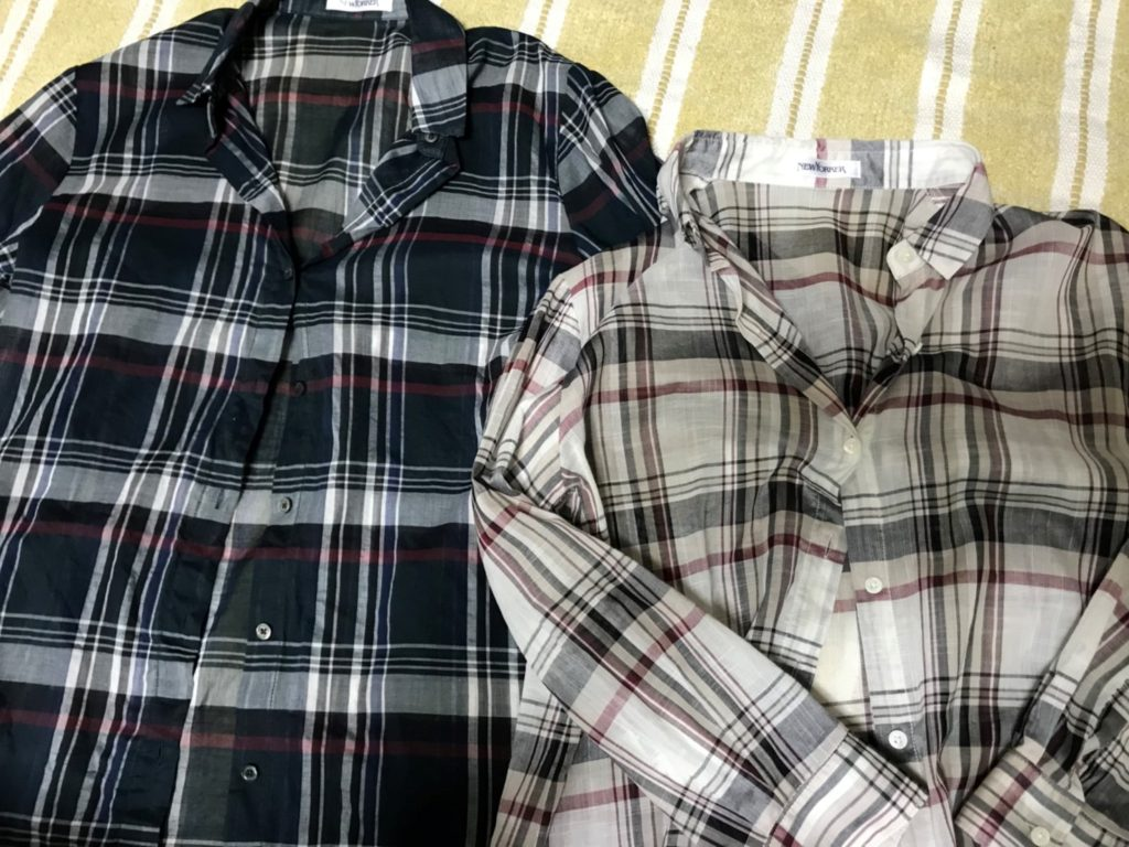 ニューヨーカーのチェックシャツ2枚