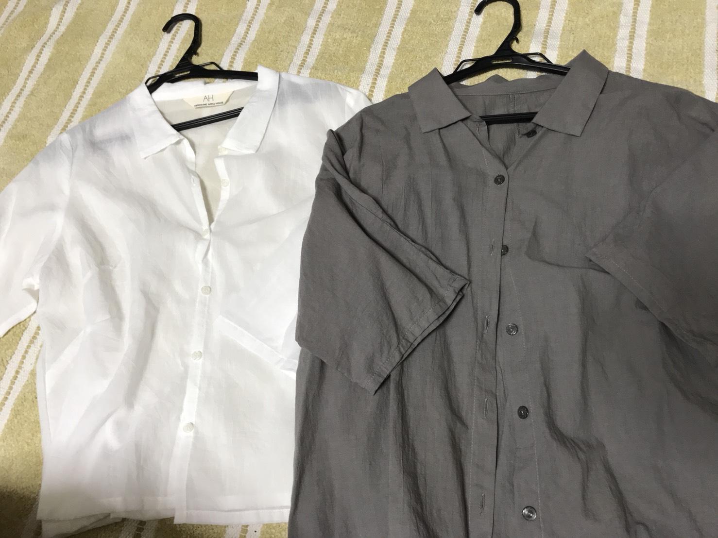 バーゲンで購入したアップルハウスのシャツ2枚