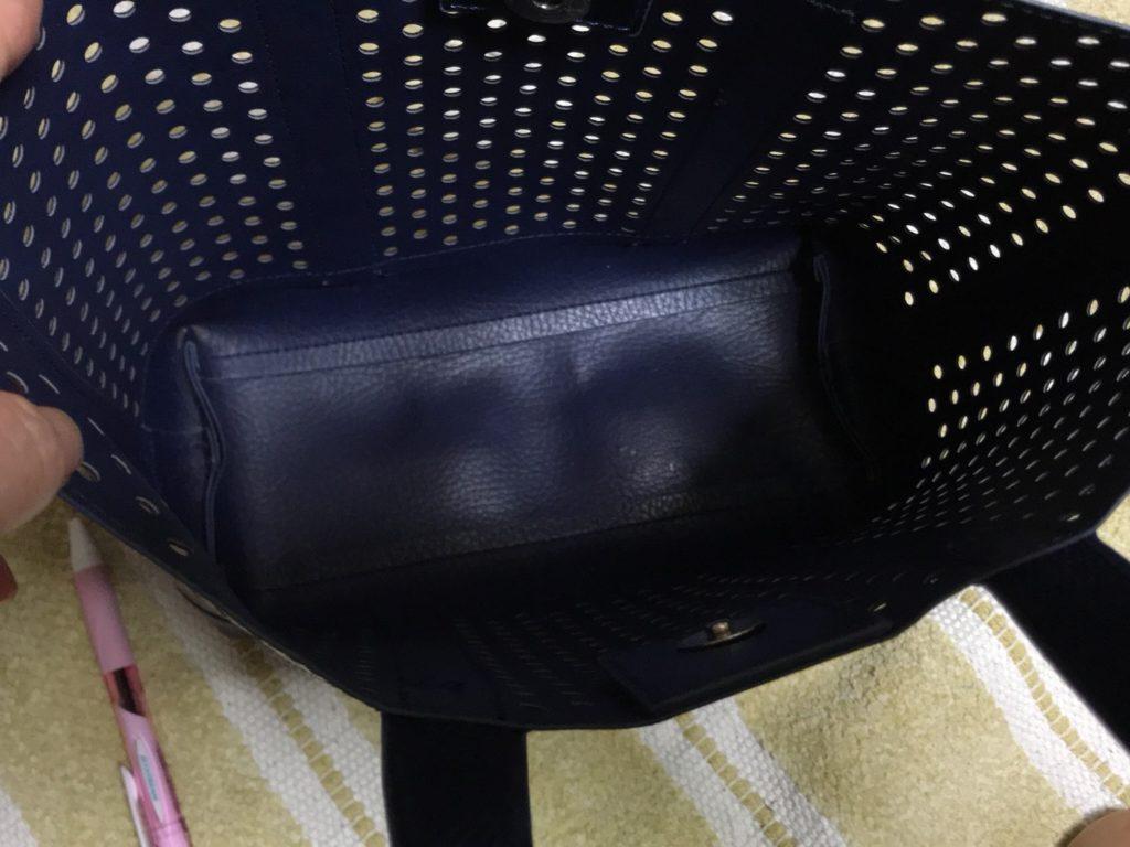 レイジースーザンのサマーバッグ内側