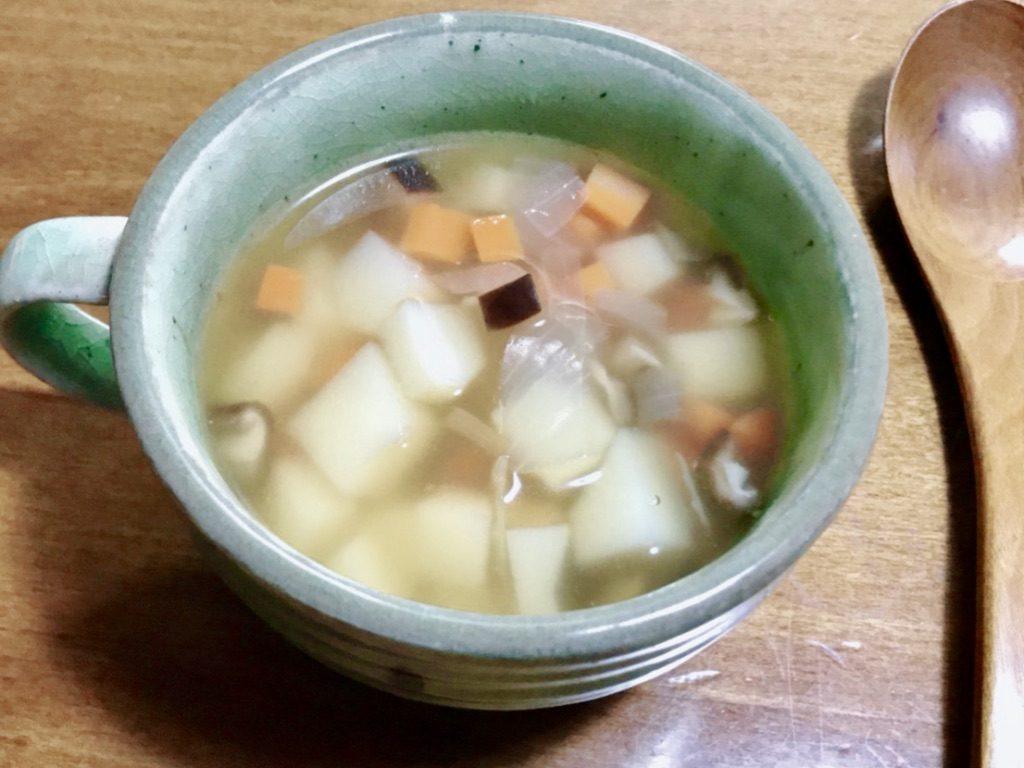手作り野菜スープのアップ